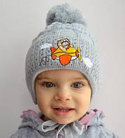 """Детская шапка """"Кот"""" (поздняя осень) 9-24 мес, фото 1"""