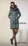 Пальто с натуральным мехом чернобурки Peercat 1721
