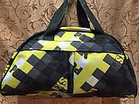Стильная женская спортивная сумка для фитнеса, черная с желтым