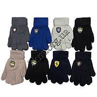 """Перчатки детские одинарные для мальчиков """"Марки авто"""" 6-8 лет Оптом 5079 M"""