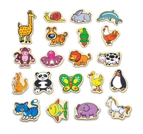 """Набор магнитных фигурок Viga Toys """"В мире животных"""" 20 шт. 58923VG"""