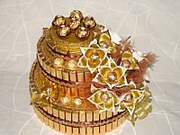 """Юбилейный торт из конфет """"Золотой юбилей """", фото 1"""