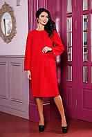 Легкое пальто-кардиган из пальтовой полушерстяной  ткани, размеры 44-58 (разные цвета)