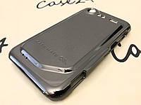 Металлический зеркальный чехол Case-Mate для HTC Incredible S серый (+ пленка)
