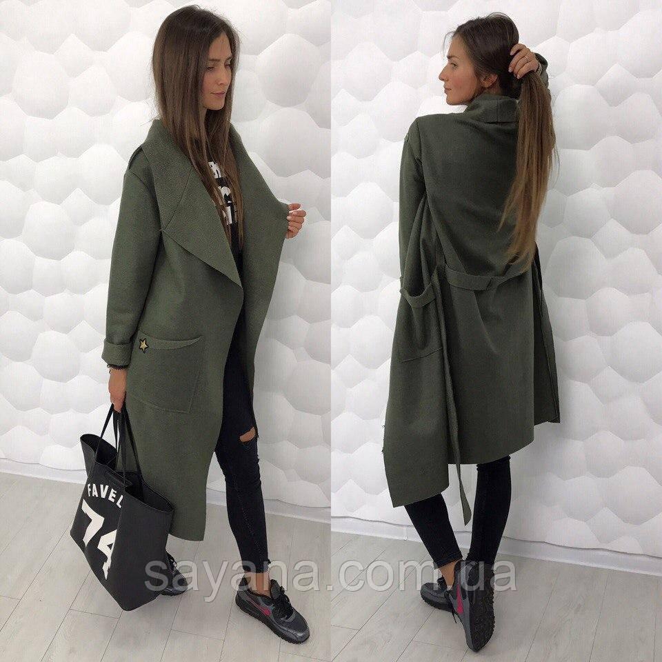 04ee96dec5a Купить Женское стильное пальто с нашивкой в расцветках. ЛД-1-0917 ...