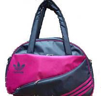 Спортивная сумка для фитнеса Adidas, Адидас серая с розовым