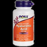 Гиалуроновая кислота двойной силы / Double Strength Hyaluronic Acid, 100 мг 60 капсул