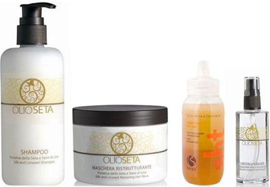 BAREX Olioseta Набір для ламінування пошкодженого волосся.