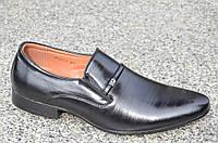 Модельные туфли с острым носком на резинке без шнурков 2017. (Код: 857), фото 1