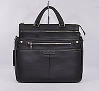 Кожаный мужской портфель, сумка-трансформер Giorgio Armani 1028-1