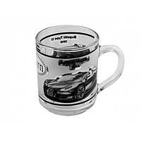 """Чашка стекло 200 мл """"Green Tea. Авто"""" круговая деколь 3677/OAE/Галерея/"""