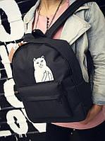 Тканевый рюкзак с наглым котом Кот Fuck