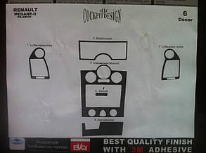 Декоративные накладки на панель Renault Megane 2