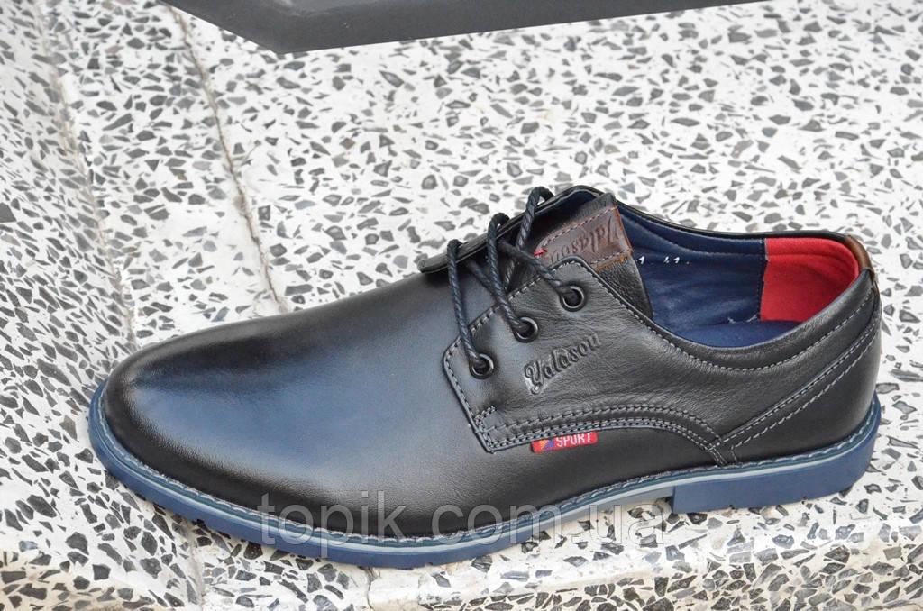 Туфли классические на шнурках натуральная кожа черные Китай 2017 (Код: 861). Только 45р!