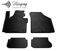 Резиновые коврики Stingray Стингрей Volkswagen Caddy  2003- Комплект из 4-х ковриков Черный в салон. Доставка по всей Украине. Оплата при получении
