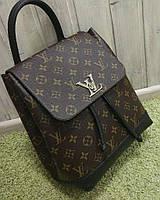 Женский брендовый рюкзак Louis Vuitton Луи Виттон коричневый, фото 1