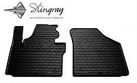 Резиновые коврики Stingray Стингрей Фольксваген Кадди 2003- Комплект из 2-х ковриков Черный в салон. Доставка по всей Украине. Оплата при получении
