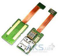 Шлейф для Nokia E65 c коннектором SIM-карты и карты памяти Original