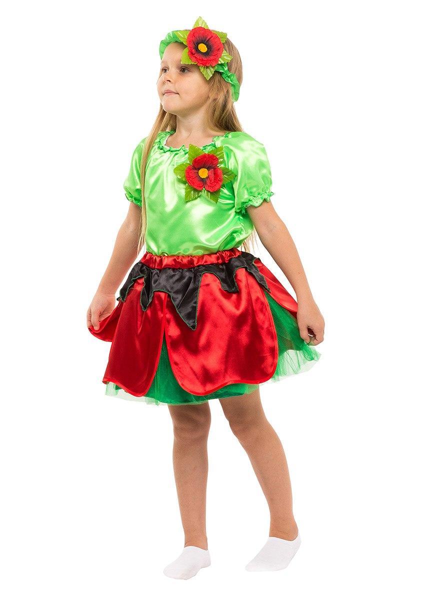 """Детский карнавальный костюм """"Маковка"""" для девочки"""