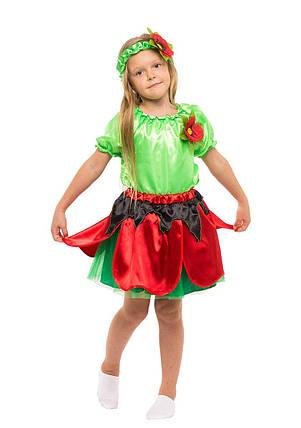 """Детский карнавальный костюм """"Маковка"""" для девочки, фото 2"""