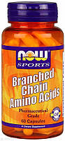 BCAA аминокислоты, Branched Chain Amino, Now Foods, Sports, 60 капсул