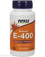 Витамин Е, E-400, Now Foods, 400 МЕ, 100 капсул