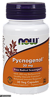 Пикногенол, Pycnogenol, Now Foods, 30 мг, 30 капсул