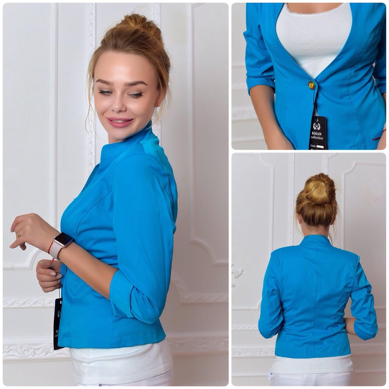 Жакет  женский, модель 11, голубой