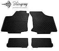 Резиновые коврики Stingray Стингрей Фольксваген Гольф 3 1991- Комплект из 4-х ковриков Черный в салон. Доставка по всей Украине. Оплата при