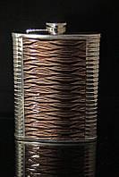 Металлическая фляга с кожей 600 мл №3
