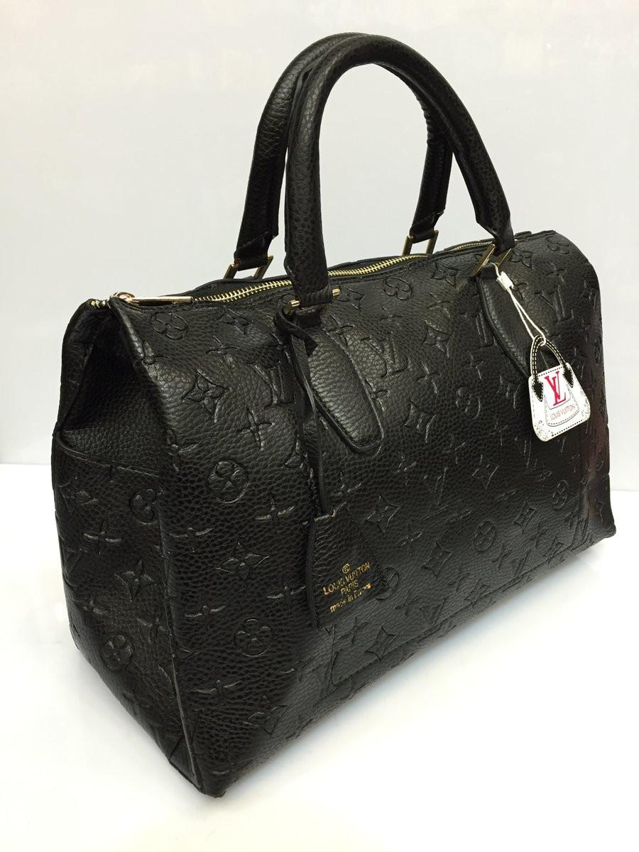 1ccef0b08422 Женская сумка-саквояж Louis Vuitton с тиснением, Луи Витон черная, ...