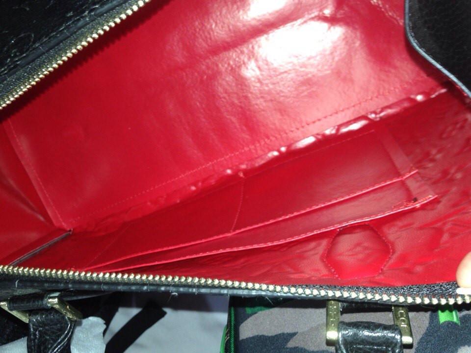 6a8fcbbb426b ... Женская сумка-саквояж Louis Vuitton с тиснением, Луи Витон черная, ...