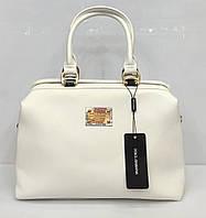 Женская сумка-саквояж D&G, Дольче Габбана белая