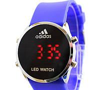 Спортивные часы Adidas LED WATCH, Адидас Лед синие