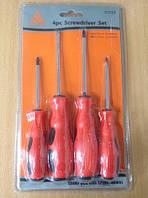 Набор отверток с резиновой ручкой (4 шт)   ОТ54