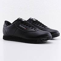 Мужские черные кожаные кроссовки Reebok Classic Retro Black M, рибок классик ретро, фото 1