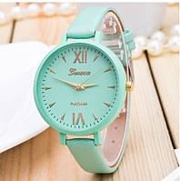 Женские часы Geneva Jelly Candy на ремешке из экокожи бирюзовые, фото 1