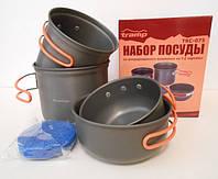 Набор туристической посуды из анодированного алюминия на 1-2 персоны Tramp TRC-075