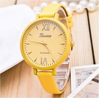 Женские часы Geneva Jelly Candy на ремешке из экокожи желтые