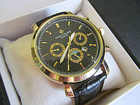 Мужские наручные часы PP (Patek Philippe) с чёрным циферблатом, Патек Филип