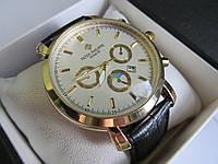 Мужские наручные часы PP (Patek Philippe) с белым циферблатом, Патек Филип