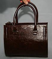 Коричневая каркасная женская сумка Voila (Wallaby) с масляной текстурой