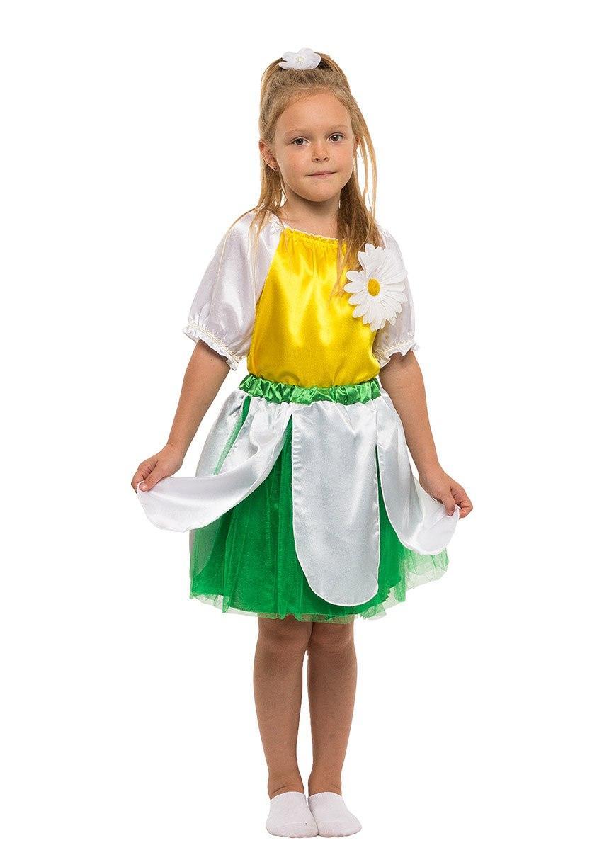 """Детский карнавальный костюм """"Ромашка"""" для девочки"""