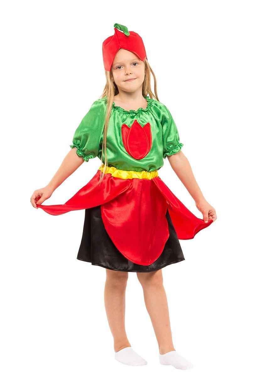"""Детский карнавальный костюм """"Тюльпан"""" для девочки"""
