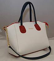 Женская сумка Givenchy, белая с красным Живанши