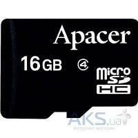 Карта памяти Apacer 16GB microSDHC Class 4 (AP16GMCSH4-RA)