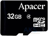 Карта памяти Apacer 32GB microSDHC Class 4  (AP32GMCSH4-RA)