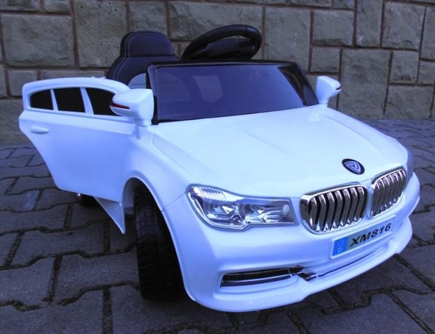 Детский электромобиль BMW B4 белый + Пластик или EVA колеса + Пластик или Кожа сидение