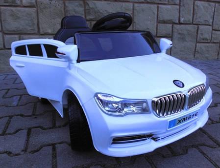 Детский электромобиль BMW B4 белый + Пластик или EVA колеса + Пластик или Кожа сидение, фото 2