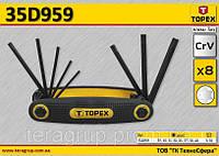 Набор угловых ключей Torx 8шт,  TOPEX  35D959